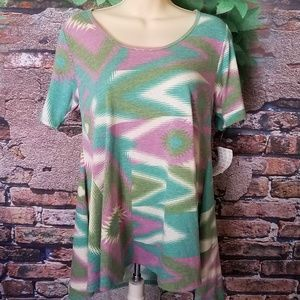 Multi-Color Short Sleeve Tunic